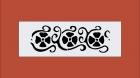 Wandschablone 762-4